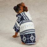 View Image 2 of Snowdrift Cuddler Fleece Dog Hoodie - Blue
