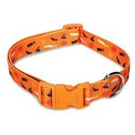 View Image 1 of Casual Canine Spooky Dog Collar - Orange