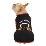 View Image 2 of Casual Canine Vampire Dog T-Shirt - Black