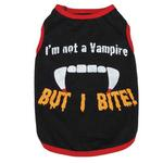View Image 1 of Casual Canine Vampire Dog T-Shirt - Black