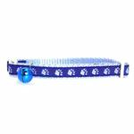 View Image 1 of Casual Kitty Two Tone Pawprint Cat Collar - Blue