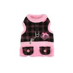 View Image 1 of Checkered Flirt Harness Dress by Pinkaholic - Pink