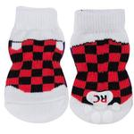 View Image 1 of Checkered Sneakers PAWKS Dog Socks