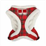 View Image 3 of Checkered Snugfit Dog Harness by Pinkaholic - Red