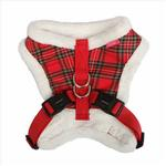 View Image 2 of Checkered Snugfit Dog Harness by Pinkaholic - Red