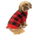 View Image 1 of Checker's Dog Sweater - Red and Black
