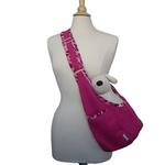 View Image 1 of Cheetah Spot Sack Pet Carrier - Pink