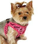 View Image 1 of Cheetah Step-In Dog Harness - Pink