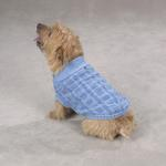 View Image 1 of Chenille Cable Knit Dog Sweater - Blue