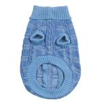 View Image 2 of Chenille Cable Knit Dog Sweater - Blue