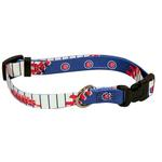 View Image 1 of Chicago Cubs Baseball Printed Dog Collar