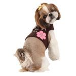 View Image 1 of Choco Mousse Pinka Dog Harness by Pinkaholic - Brown