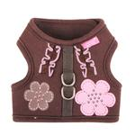 View Image 3 of Choco Mousse Pinka Dog Harness by Pinkaholic - Brown