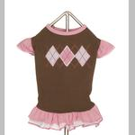 View Image 2 of Chocolate Argyle Dog Dress