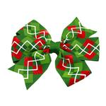 Christmas Argyle Dog Bow