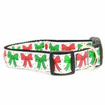 View Image 1 of Christmas Bows Nylon Dog Collar