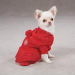 View Image 1 of Christmas Pageant Dog Sweater Dress - Red