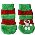 View Image 1 of Christmas Stripe PAWKS Dog Socks
