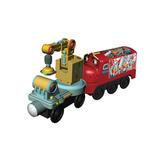 Chuggington Wooden Railway - Magnetic Wilson with Crane Car