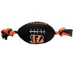 View Image 1 of Cincinnati Bengals Plush Football Dog Toy
