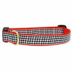 View Image 1 of Classic Black Houndstooth Dog Collar by Up Country