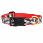View Image 2 of Classic Black Houndstooth Dog Collar by Up Country