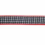 View Image 3 of Classic Black Houndstooth Dog Leash by Up Country