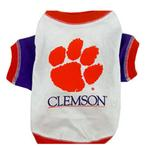 View Image 1 of Clemson Tigers Dog T-Shirt - White
