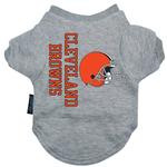 View Image 1 of Cleveland Browns Dog T-Shirt