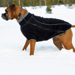 View Image 1 of Climate Changer Fleece Dog Jacket by RuffWear - Obsidian Black