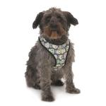 View Image 1 of Cloak & Dawggie Snap-N-Go Dog Harness - Skull Print with Blue Fleece