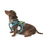 View Image 1 of Cloak & Dawggie Step-N-Go Fleece Lined Harness - Mod Dot with Jade