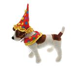 View Image 2 of Clown Collar and Hat Dog Halloween Costume