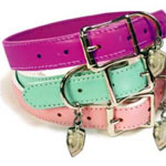 View Image 1 of Coachdog Pink Leather Dog Leash