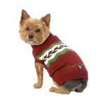 View Image 1 of Colby's Winter Fair Isle Dog Sweater - Cranberry