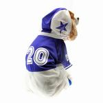 View Image 3 of Collegiate Football Player Dog Costume - Blue