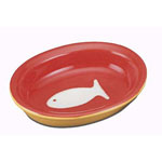View Image 1 of Color Block Cat Bowl - Red