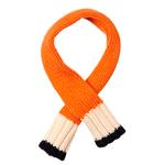 View Image 1 of Color Block Dog Scarf - Navy, Cream and Orange
