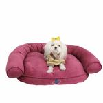 View Image 1 of Comfort Zone Dog Bed by Pinkaholic - Purple