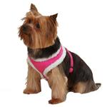 View Image 1 of Cozy Sherpa Dog Harness by East Side Collection - Raspberry
