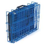 View Image 3 of Crate Appeal Collapsible Wire Dog Crate - Blue Splash