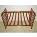 View Image 1 of Crown All Wood 30inch Height Pet Gate - Chestnut Brown