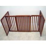 View Image 2 of Crown All Wood 30inch Height Pet Gate - Chestnut Brown