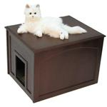 View Image 2 of Crown Cat Litter Cabinet - Espresso