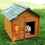 View Image 1 of Crown Pet Cedar Dog House with Classic Roof