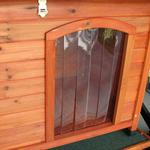 View Image 6 of Crown Pet Cedar Dog House with Slant Roof