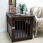 View Image 1 of Crown Pet Wood Dog Crate - Espresso