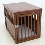 View Image 1 of Crown Pet Wood Dog Crate - Mahogany