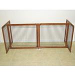 View Image 2 of Crown Wood-Wire 30inch Height Pet Gate - Chestnut Brown