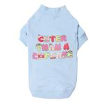 View Image 1 of Cuter Than a Cupcake Dog T-Shirt - Blue